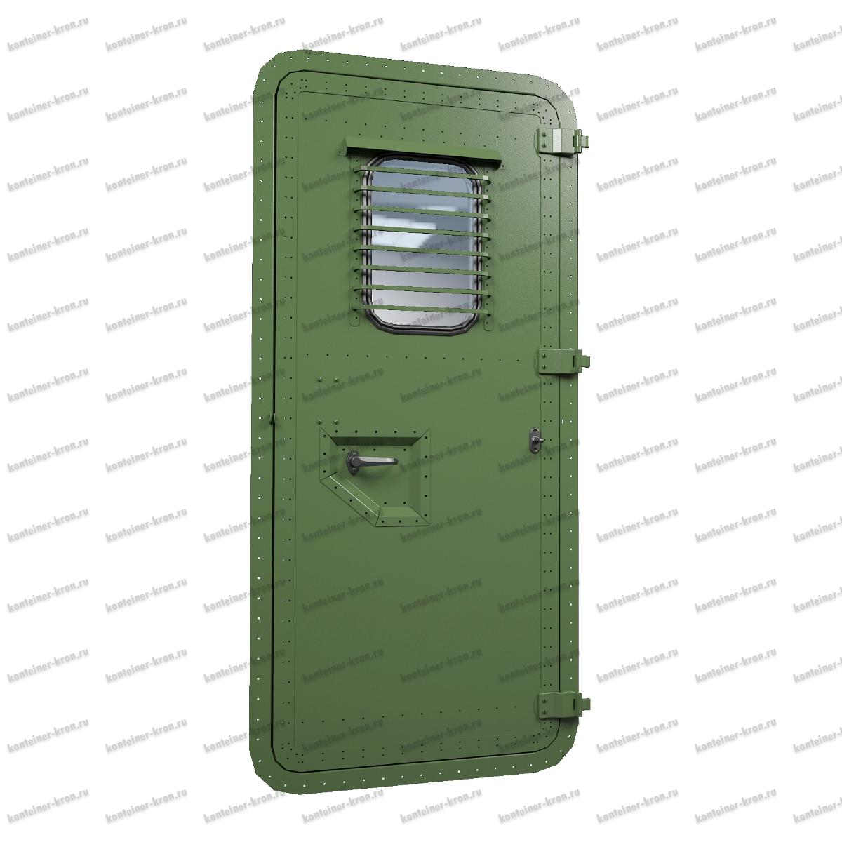 Металлическая дверь для фургонов и контейнеров серии МД