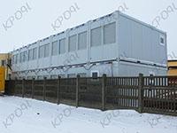 Отгрузка двух офисных зданий на основе контейнеров