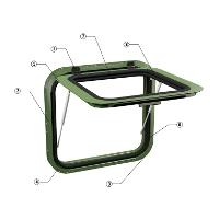 Металлическое окно для фургонов и контейнеров серии ОФ