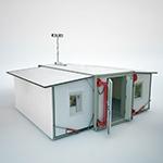 Раскладной кузов-контейнер с открытой дверью
