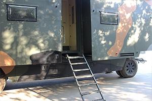 Фотография съемной лестницы ПОЖ