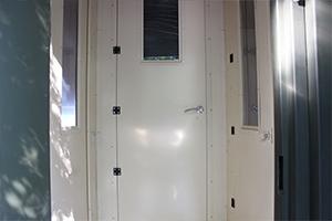 Фотография входной двери ПОЖ