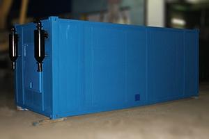 Выхлопная система установленная на блок-контейнере