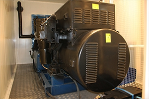 Дизельный генератор номинальной мощностью 250 кВт установленный в