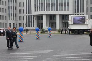Смотр контейнера МКИОН Министром чрезвычайных ситуаций Российской Федерации
