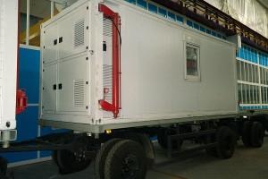 Блок-контейнер на двухосном прицепе