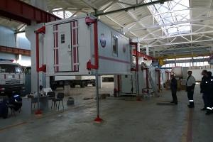 Подготовка кузов-контейнера постоянного объема к автономной погрузке