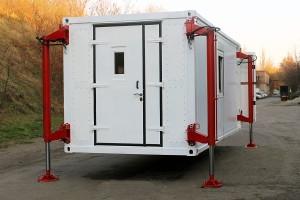 Процесс подъема кузов-контейнера