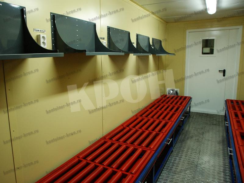 Аккумуляторная мастерская вид левой стены