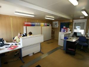 Организация рабочего места в мобильном офисном контейнере