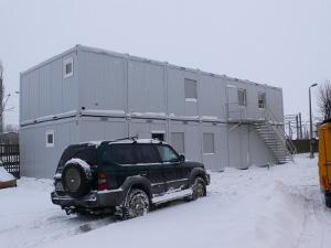 Многоэтажное мобильное офисное здание