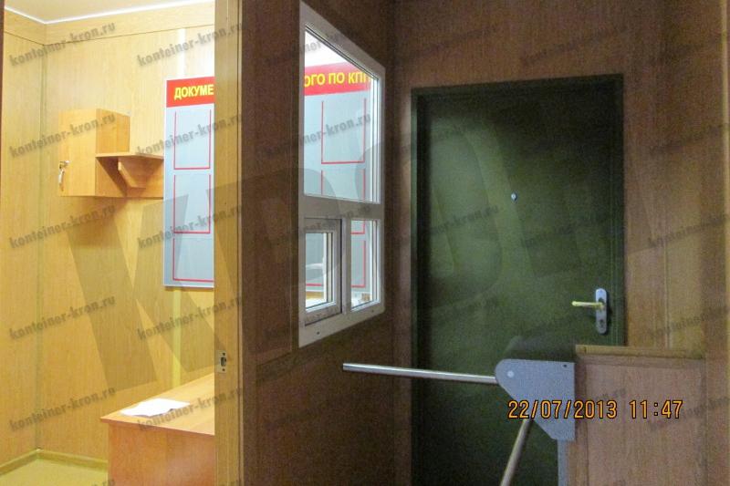 Фотография тамбура и места дежурного КПП
