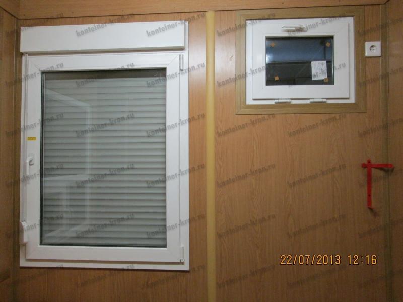 Окно с форточкой в СЛС