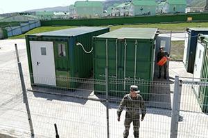 Фото мобильной аккумуляторной мастерской на базе 4-х кузов-контейнеров