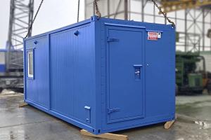 Фото контейнера аккумуляторной мастерской с оснащением