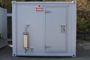 Фотография металлического блок-контейнера для генератора
