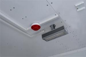 Фото освещения и датчика дыма установленных в КРОН-БГУ-01