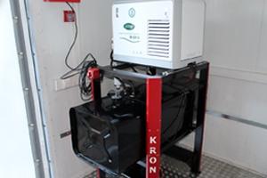 Фото установленного дизельного генератора в контейнере
