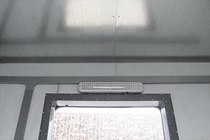 Освещение установленное в блок контейнере ХЛВЖ