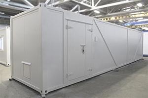 Блок-контейнер с бронированной дверью фото