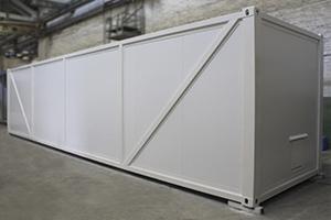 Фото блок-контейнера для размещения оборудования очистки воды