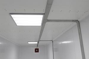 Фото освещения установленного в блок-контейнере