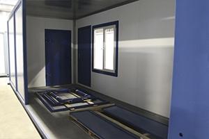 Внутреннее оснащение контейнера для размещения водоочистной установки