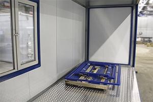 Фото алюминиевого пола в контейнере для размещения водоочистной установки