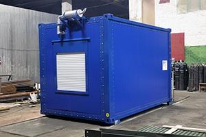 Фото контейнера с ДГУ-150 кВт вид спереди