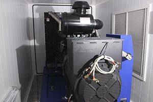 Фото электростанции ДЭС в энергетическом помещении