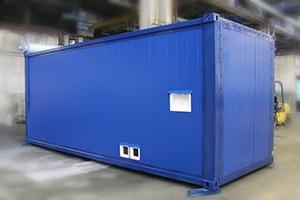 Фотография блок-контейнера для ДГУ 458 кВт общий вид