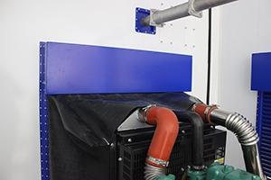 Система охлаждения дизельного двигателя электростанции