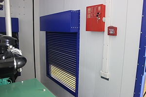 Фото вентялиционного окна блок-контейнера для ДГУ