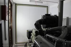 Фото глушителя-искрогасителя контейнера для ДГУ 200кВт ЯМЗ