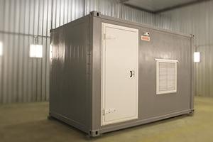 Фото блок-контейнера для ДГУ вид спереди