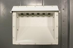 Фото коммутационной панели блок-контейнера