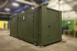 Фото раздвижного контейнера-бани вид №1