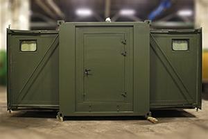 Фото раздвижного контейнера-бани вид №2