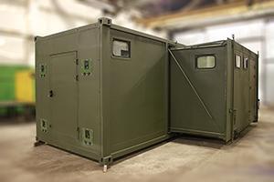 Фото раздвижного контейнера-бани вид №3