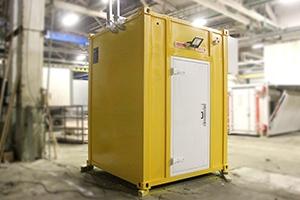Фотография блок-контейнера связи