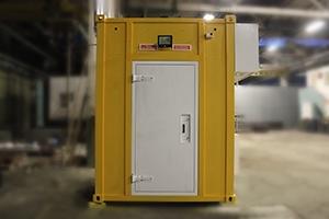 Фото блок-контейнера связи вид спереди