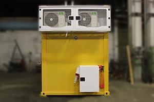 Фото блок-контейнера связи вид сзади