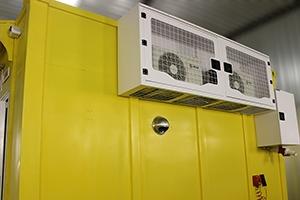 Фото системы охлаждения контейнера связи