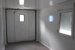Входная дверь в кузов-контейнер Kron Investment Group-КК-01 вид изнутри