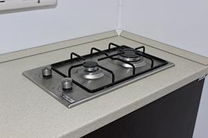 Фотография двухконфорочной газовой плиты ПОЖ-КФ