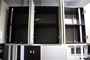 Фото комплекса полок для хранения продуктов в открытом виде