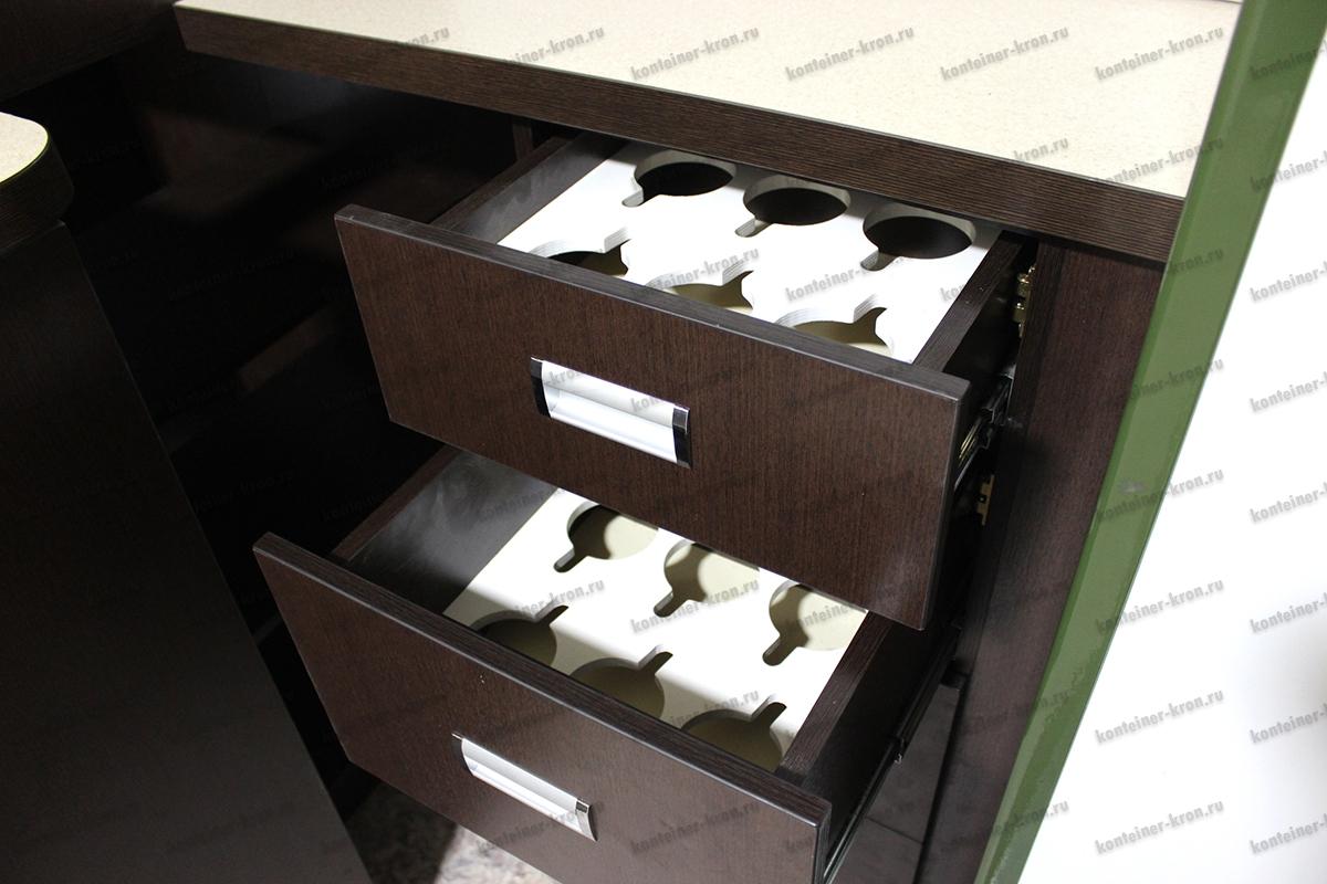Фото выдвижного ящика для хранения кружек