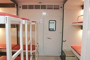 Фото входной двери в жилой модуль ПОЖ-КФ
