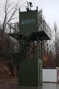 Фотография прожекторов наблюдательной вышки ВН-2