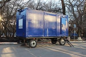 Фотографии контейнера с ДГУ на шасси общий вид